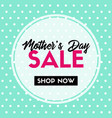 mothers day sale banner for social media vector image vector image