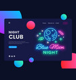 night club concept banner blue moon night club vector image