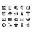 online shop black silhouette icons set vector image vector image
