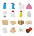 Packaging cartoon icons set vector image vector image
