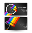 painting business card concept vector image vector image