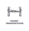 patient transportation thin line icon sign vector image