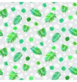 Pattern with leafs inspired by tropical nature vector image vector image