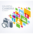 Photo camera icon colorful media element vector image