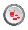 Pill drug medical icon Health and medicine vector image vector image