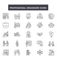 professional organizer line icons signs vector image vector image