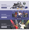 Rap Music Banner vector image vector image