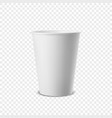 realistic 3d white paper disposable cup vector image vector image