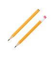 realistic pencil set vector image vector image