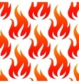 Red fire flames seamless pattern vector image vector image