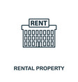 rental property icon outline style thin line vector image vector image