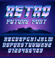 retro 80s alphabet and numbers vector image vector image