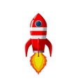 retro space rocket lifts off vector image vector image