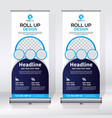 roll up banner vertical design template banner vector image vector image