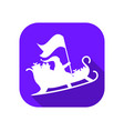 santa claus in a sleigh flat icon with long vector image vector image