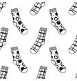 seamless black white pattern of doddle socks for vector image vector image
