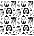 seamless pattern with funny characters vector image vector image
