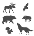 set forest animals vector image vector image