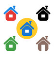 set house icon the sign of the house vector image vector image