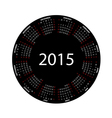simple round calendar for 2015 year vector image