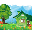 Summer solar rural landscape vector image vector image