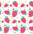 sweet strawberry seamless pattern vector image
