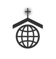 symbol or icon of christian church worldwide vector image