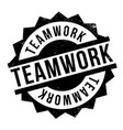 teamwork rubber stamp vector image vector image