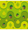 texture with leaves and acorns vector image