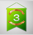 three years anniversary celebration design vector image vector image