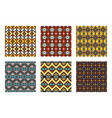 tribal ornament colored pattern set vector image