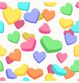 valentine candy hearts pattern vector image vector image