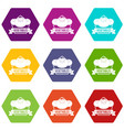 vegetables icons set 9 vector image vector image
