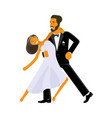wedding dance lessons vector image vector image