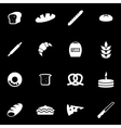 white bakery icon set vector image vector image