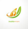 Vegetarian food symbol vector image