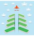 green tree card vector image