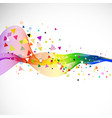 abstract colorful flow wave and various triangle vector image vector image