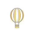 air balloon computer symbol vector image