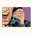 angry man talking on the phone vector image vector image