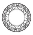 antique greek style meander ornanent frame vector image vector image