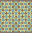 arabic lattice pattern with stars vector image vector image