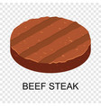 beef steak icon isometric style vector image