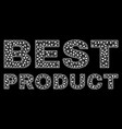 best product text in polygonal mesh style vector image vector image