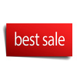 best sale red paper sign isolated on white vector image vector image