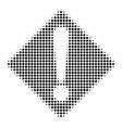 black pixel warning icon vector image vector image