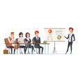 business presentation characters group of vector image