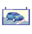 car sale design template advertising poster vector image