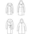 coat vector image