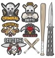 collection gang and criminal badges vector image